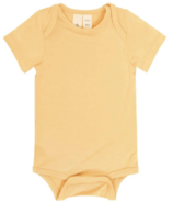 Kyte BABY Short Sleeve Bodysuit in Honey