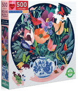 eeBoo Still Life With Flowers Round Puzzle