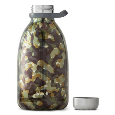 S\'well Green Camo Collection Stainless Steel Water Bottle Incognito Roamer