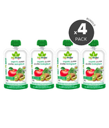 Bioitalia Apple Kiwi Spinach Organic Puree Smoothie Bundle