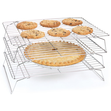 3-Tiered Stackable Chrome Cooling Rack