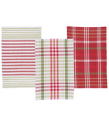 Now Designs Dishtowel Set North Pole Check