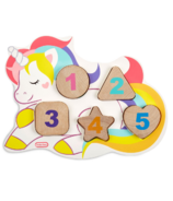 Little Tikes Wooden Critters Number Puzzle Unicorn