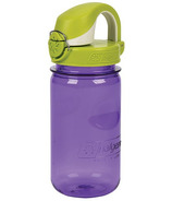 Nalgene 12 Ounce On the Fly Kids Bottle Purple with Green Cap