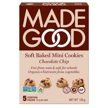 MadeGood Soft Baked Mini Cookies Chocolate Chip