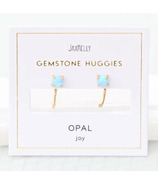 JaxKelly Gemstone Huggies Opal Earrings