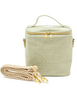 SoYoung Petite Poche with Braided Strap Sage Green Linen
