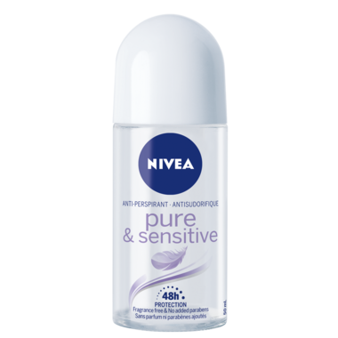 Nivea Pure & Sensitive Anti-Perspirant Roll-On