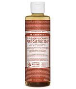 Dr. Bronner's Organic Pure Castile Liquid Soap Eucalyptus 8 Oz