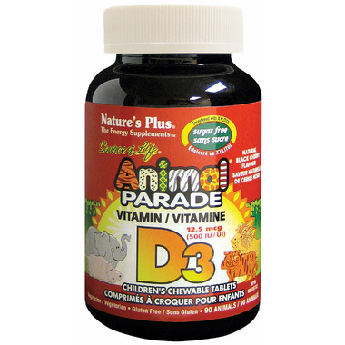 Nature\'s Plus Animal Parade Sugar Free Vitamin D3 Chewable