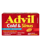 Advil Cold & Sinus Caplets Non-Drowsy 40 Pack