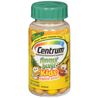 Centrum Flavour Burst Kids Multivitamin Chews in Tropical Fruit Flavour