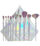 Zoe Ayla Unicorn Essentials Brush Set with Diamond Case