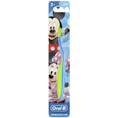 Oral-B Kid\'s Toothbrush Disney\'s Mickey and Minnie Mouse Soft
