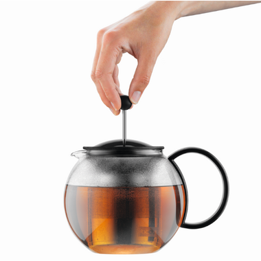 Bodum ASSAM Tea press with Stainless Steel Filter Black