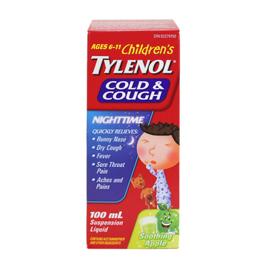 Children\'s Tylenol Cold & Cough Nighttime Suspension Liquid
