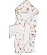 Little Unicorn Cotton Hooded Towel & Wash Cloth Set Forest Friends