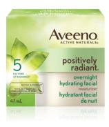 Aveeno Positively Radiant hydratant de nuit pour le visage