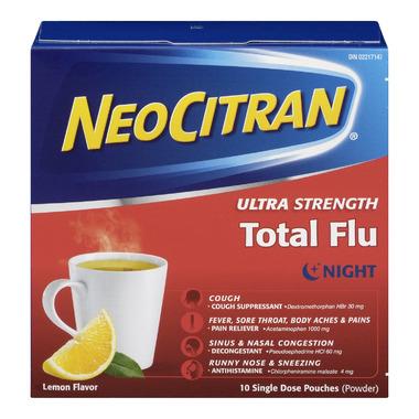 NeoCitran Ultra Strength Total Flu Night