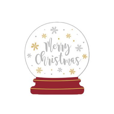Harman Merry Christmas Globe Shape Cocktail Napkin