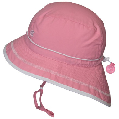 Calikids Quick-Dry Bucket Hat Extra Wide Brim Azalea Pink