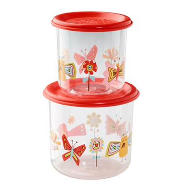 Sugarbooger Good Lunch Large Snack Containers Birds and Butterflies