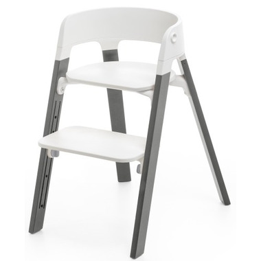 Stokke Steps High Chair Stormy Grey Oak & White Chair