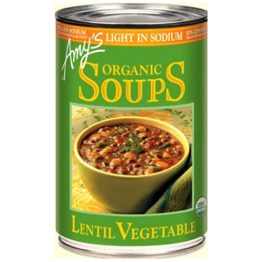 Amy\'s Organic Lentil Vegetable Soup Reduced Sodium