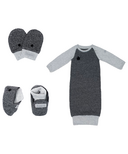 Juddlies Raglan Collection Newborn Bundle Graphite Black