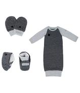 Juddlies Raglan Collection Newborn Bundle Graphite Black