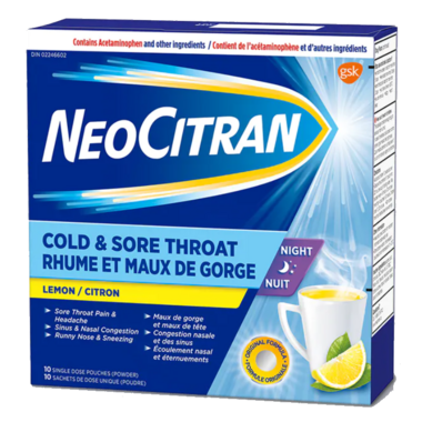 NeoCitran Cold & Sore Throat Night