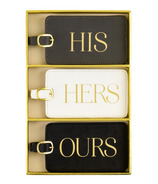 Eccolo Luggage Tag Set of 3 His Hers Ours
