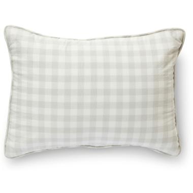Petit Pehr CheckMate Nursery Pillow Fog