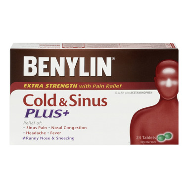 Benylin Extra Strength Cold & Sinus Plus+ Tablets