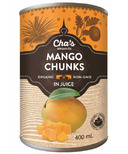 Cha's Organics Mango Chunks In Juice