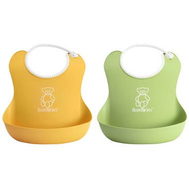 12defc59686 Buy BabyBjorn Soft Bibs Green   Yellow at Well.ca
