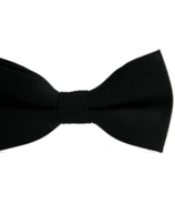 Mini Swag Solid Black Bow Tie