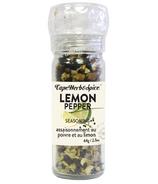 Cape Herb & Spice Moulin à épices de table Poivre au Citron