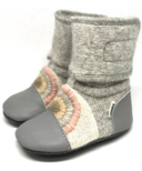 Nooks Design Booties Rainbow Moon 6-18M