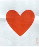 Ten & Co. Swedish Sponge Cloth Big Love Red