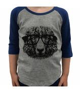 L&P Apparel 3/4 Sleeve Shirt Heather Grey & Navy Sheep