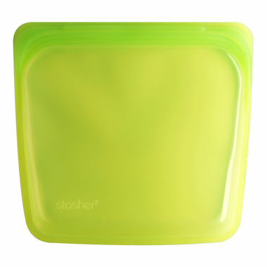 Stasher Reusable Storage Bag Lime