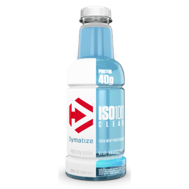 Dymatize Nutrition ISO100 Clear Whey Protein Isolate Drink Blue Raspberry