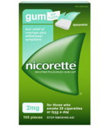Nicorette Gum Nicotine Spearmint Flavour 2 mg