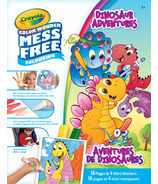 Crayola Dinosaurs Color Wonder Pages and Mini Markers Foldalope