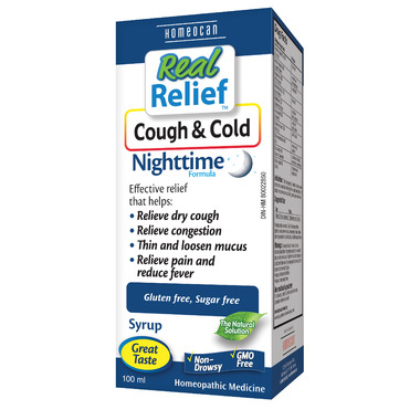 Homeocan Real Relief Cough & Cold Nighttime Formula Syrup