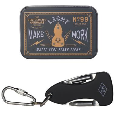 Gentlemen\'s Hardware Pocket Multi Tool with Flash Light