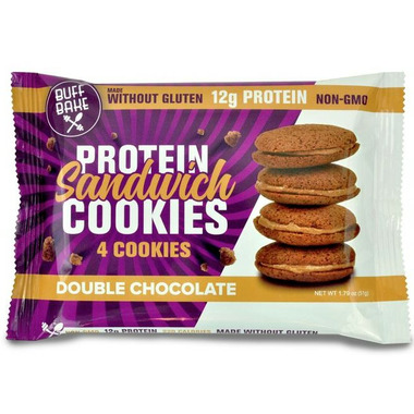 Buff Bake Protein Sandwich Cookies Double Chocolate Pack of 4
