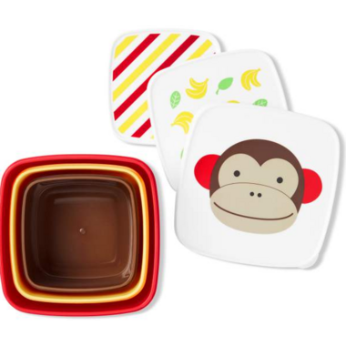 Skip Hop Zoo Snack Box Set Monkey