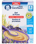 Gerber Baby Cereal Oat & Prune (Add Water)